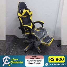 Título do anúncio: Cadeira Gamer Amarela com Back Sytem Gamer