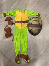 Título do anúncio: Fantasia infantil Tartarugas Ninja Rafael tamanho M