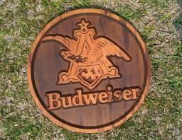Título do anúncio: Quadro Cerveja Budweiser Em Madeira Maciça