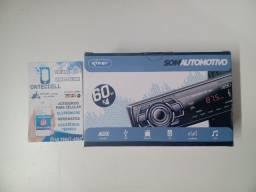 Título do anúncio: Aparelho de som Radio para carro 60w x4 entradas aux / sd / usb / Bluethooth Novo