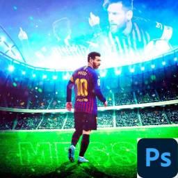 Título do anúncio: Psd da arte do Leonel Messi