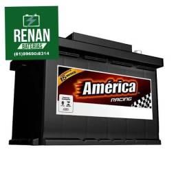 Bateria carro América 60 amperes 15meses garantia