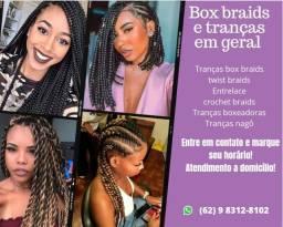 Título do anúncio: Box braids e penteados em geral