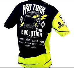 Etc Camisa Estampada Original Protork 100% Poliéster Bike Moto Esporte Tamanho P G