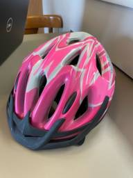 Título do anúncio: Capacete de bike rosa