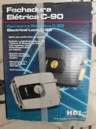 Fechadura elétrica hdl c90 lacrada nova