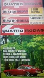 Pacote com 4 Revistas Quatro Rodas Década de 60 - Números 59, 67, 82 e 83