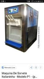 Maquina de sorvete soft italianinha balcao