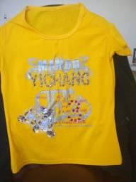 Camiseta Amarela Bordada