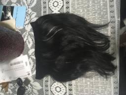 3 telas de cabelo natural /preto /megahair