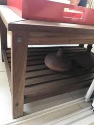 Mesa em madeira Tok & stok