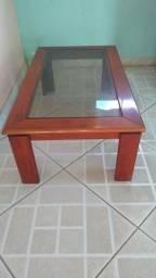 Mesa de centro madeira e vidro super conservada