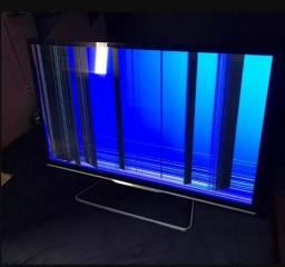 Televisao 42 3D Smart, Amblight - Tela Trincada -