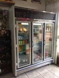 Refrigerador expositor portas vidro para restaurante,bares,lanchonete