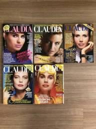 Lote Com 05 Edições Da Revista Claudia, Ano De 1986