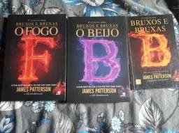 3 livros da coleção bruxos e bruxas