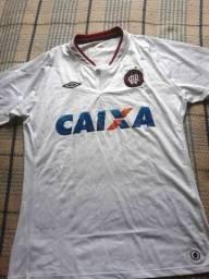 Camisa Futebol Athletico Paranaense - Original - Branca - 2013 - Patrocínio  Caixa e Umbro b42df016a2287