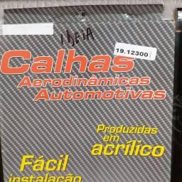 Calha de chuva para Fiat Ideia/05 ..4 portas nova instalado no seu carro