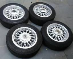 Rodas BBS aro 14 com pneus