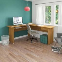 Mesa para escritorio modelo Cannes cor Freijo
