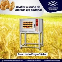 Forno padaria turbo a gás 5 telas marca Progas