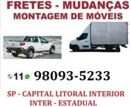 *Fretes *Carretos *Mudanças * (Capital - baixada santista - Interior ) comprar usado  São Paulo