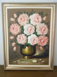 Pintura de Flores com moldura. Lindo