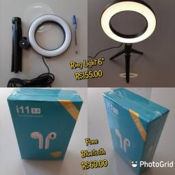 Eletronicos- Caixas de Som Portateis, Ring Light, Fone Bluetooth