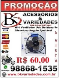 Mini Ventilador 5v Usb Luatek Para Pc, Notebook Em Metal Mesa- (Loja BK Variedades)