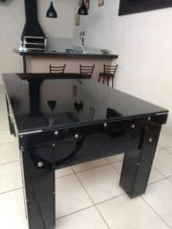 Mesa de sinuca/bilhar de gaveta residencial tecido personalizado e tampo gourmet