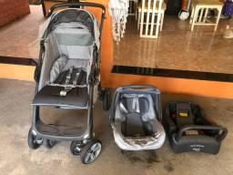 Carrinho de bebê + bebê conforto + base para carro
