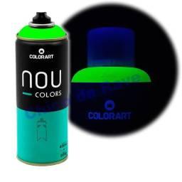 Tinta spray verde fluorescente Nou Colors (verde luminoso)