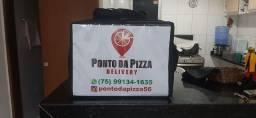 Pizza Quadrada e redonda aqui o cliente escolhe