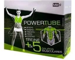 Power tube elastico para exercícios em casa academia mini band