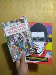 2 livros de moda masculina