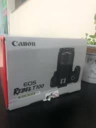 Título do anúncio: Câmera Canon Rebel T100 Nova