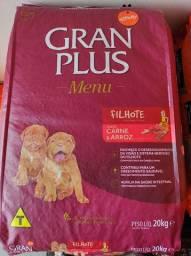 Ração Granplus Menu filhote carne e arroz 15kg e 20kg. (leia a descrição).