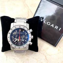 Título do anúncio: Relógio Bvlgari Série Prata e Preto
