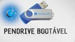 Pendrive bootavel 32gb, windows 7 8.1,10+ kit de formatação