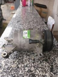 Compressor de ar condicionado, Fiat Palio, Grand Siena, 1.6, e-tork, 2014.