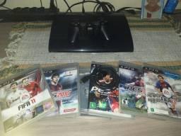Playstation 3, 06 jogos e 01 controle sony