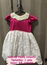 Vestido de festa - infantil