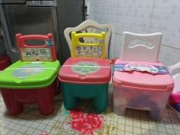 Título do anúncio: Cada uma 60. Cadeira infantil com blocos produto NOVO.