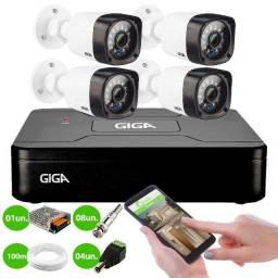 Kit 4 Câmeras de Segurança HD 720p Giga Security