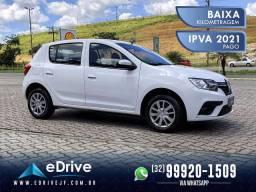 Renault Sandero Zen Flex 1.0 5p Mec. - IPVA 2021 Pago - Baixo KM - Ultimo Modelo - 2020