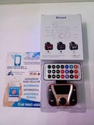 Título do anúncio: Transmissor de musica para carro Bluetooth Usb nini central multimidia