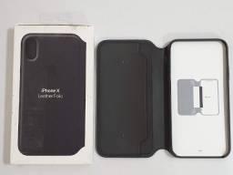 Apple Capa de couro para iPhone X  Preto MQTD2ZM/A