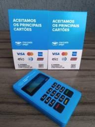 Máquina de cartão Point mini via bluetooth com 3 anos de garantia
