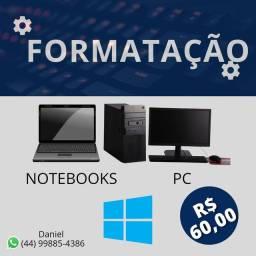 FORMATAÇÃO NOTEBOOK/PC