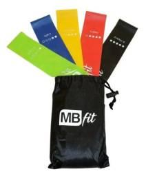 Treino Em Casa Na Pandemia Mini Bands MbFit 5 Intensidades Kit
